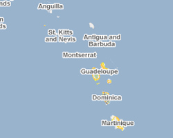 map french west Indies